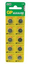 GP 656.206 LR44/AG13/A76 Alkaline Button Cell Battery 125mAh Pack of 10 - New