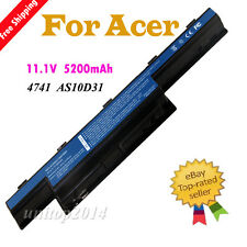New 6 Cell Laptop Battery For Acer Aspire AS10D31 4741 5551 5552 5742 7741 7551