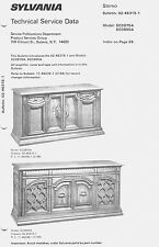Sylvania GTE Service Manual AM/FM Stereo Console Furniture 02-46315-1 26 pages