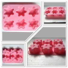 Silicone Snowflake 3D Fondant Mould Eco-friendly  With 6 Molds. Frozen Parties