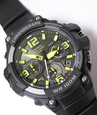 Casio Men's Heavy Duty-Design Chronograph Black Watch MCW100H-9AV