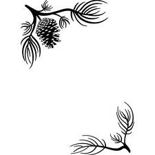 Darice Embossing Folder PINE BRANCHES In The Corners Pine Cones  A2 1218-120