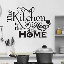 Kitchen Heart Home Quote Wall Stickers Art Dining Room Removable Decals DIY