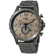 Fossil Nate Chronograph Brown Dial Mens Watch JR1523