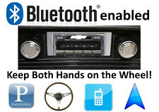 Bluetooth Enabled 68-76 Chevy Nova 300 watt AM FM Stereo Radio iPod, USB inputs