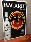 "Bacardi Metal Sign 12"" x 18"""