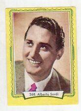 figurina - LAMPO ATTORI 1957 - numero 268 ALBERTO SORDI