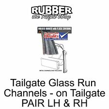 1978 - 1996 Ford Bronco Tailgate Glass Run Channels - on Tailgate - PAIR