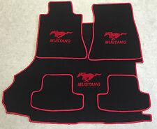 Autoteppich Fußmatten Kofferraum Set für Ford Mustang Coupe rot ab 2015 5tlg.