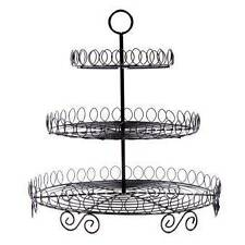 Stokes 3 Tier Metal Rack CupCake Stand Holder -Black