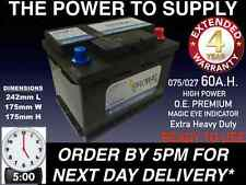 075 CAR BATTERY 065 075 027 O.E.M. 12V 60AH 570A EXTRA HEAVY DUTY SEALED 24HRDEL