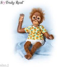 Ashton Drake Orangutan Juma Poseable realistic  Free UK delivery!