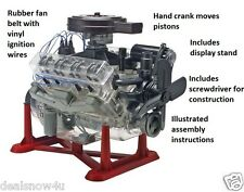 V8 Engine with Moving Pistons and Crank Model 1 to 4 Scale Kit Hobby Auto Motor