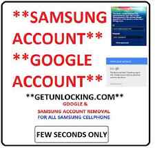 SAMSUNG ANY MOBILE ** SAMSUNG ACCOUNT AND GOOGLE ACCOUNT** REMOVE IN FEW SECONDS