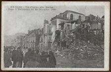 cartolina REGGIO CALABRIA via plutino alla marina dopo terremoto del 1908