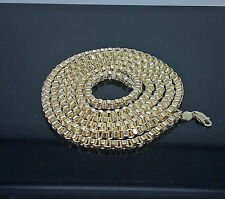 "10K Yellow Gold Byzantine Chain For Men's 24"" Long #11.2# 4mm"