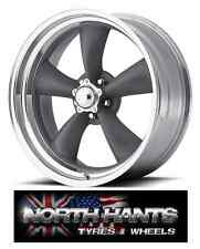 18X7 5-4.75 AMERICAN RACING CLASSIC TORQ THRUST GRAY POLISHED LIP CHEVY,HOT-ROD