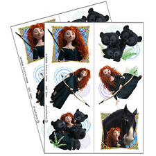 BRAVE TEMPORARY TATTOOS (2 sheets) ~ Birthday Party Supplies Favor Disney Merida