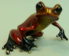 TIM COTTERILL 'THE FROGMAN' LTD EDITION BRONZE FIRE RED ENAMELLED TREE FROG
