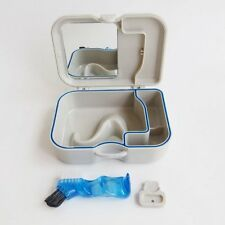 New Denture Storage Box Case With Mirror and Clean Brush Dental Appliance