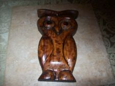 Vintage Handmade Wooden Owl From 1967