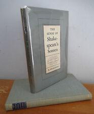 The SENSE OF SHAKESPEARE'S SONNETS by Edward Hubler, 1952 1st Ed in DJ