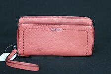 NWT Coach Leather Sienna Medium Wristlet / Wallet in Coral Pink. Great Present.