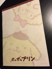 Rare Sanrio Original Vintage Pom Pom Purin Notepad Paper Japan Pad Stationary