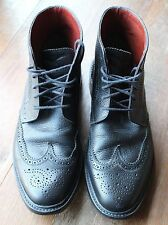 Florsheim Black Leather Wingtip Boots by Duckie Brown Men's US Size 9 USA