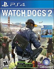 Watch Dogs 2 - PlayStation 4 Brand New Ps4 Games Sony Factory Sealed
