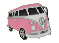 Pink Volkswagon  Bus PEACE VW Hippie Belt Buckle RETRO