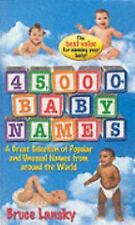 45,000+ Baby Names: Forty-five Thousand Plus Baby Names