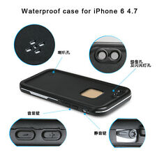 iPhone 6 6s High Quality Waterproof Builders Cover Fullbody Slim Black Case