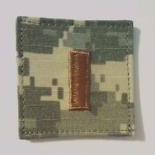 US Army ACU Rank O-1 2nd Lieutenant Regulation Patch w/fastener Made in USA
