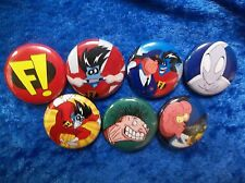 "1"" pinback button set inspired by Freakazoid"