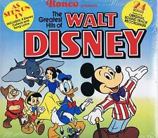 Sealed The Greatest Hits of WALT DISNEY Ronco Vinyl LP 33 Children's Album 1976