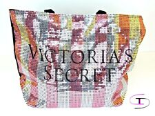 VICTORIA SECRET NEW LARGE TOTE BAG SILVER PINK SEQUIN BLACK FRIDAY 2015 VS 1139K