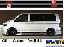 VW Volkswagen Transporter T5 Camper Van stripes stickers graphics VANS Logo