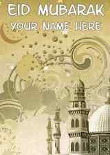 Happy Eid Mubarak A5 Personalised  Greeting Card PIDY9 Daddy  mum  NAN friend