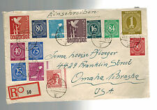 1948 Peine West Germany Occupation Cover to USA Franking at 1/10th value