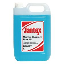 Jantex Machine Glass Wash Rinse aid 5ltr Cleaner Kitchen Bactericidal Detergent