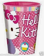 LOT 3 VERRES HELLO KITTY 10 X 8 CM 270 ML ROSE