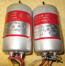 Aerovox 66742 5 Step {Six DB Per Step} 600 OHM Attenuators 0-24 DB Circa1966