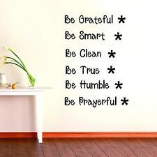 Be Grateful Smart Wall Quote Home Decor Vinyl Decal Wall Stickers Office DIY