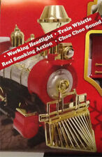 Christmas Tree-SANTA's JUMBO EXPRESS SMOKING TRAIN SET-Choo-Choo Sounds & Lights