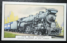 Central Railroad of New Jersey   BLUE COMET  Original 1930's Vintage Card  VGC
