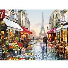 Paris Street DIY Digital Oil Painting Craft Kit By Numbers Canvas 40*30cm Decor