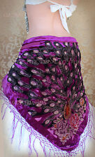 Rose Velvet Scarf Gypsy Tribal Fusion Belly Dance ATS Gothic Steampunk CosPlay