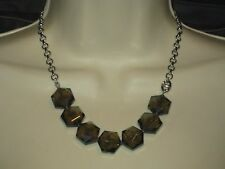 NWT Lia Sophia INFINITME LARGE FACETED GLASS NECKLACE STRAND - MOSS GREEN-RV $68