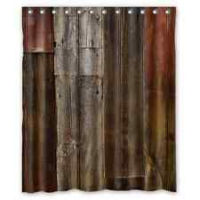 Decorative Rustic Old Barn Wood Art Shower Curtain Waterproof Fabric 60x72 Inch